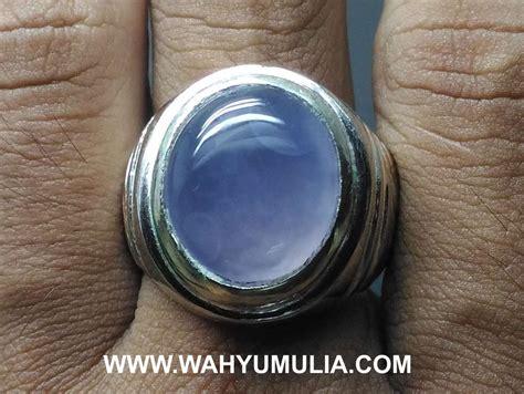 Biru Langit Chalcedony batu cincin akik biru langit baturaja asli kode 586