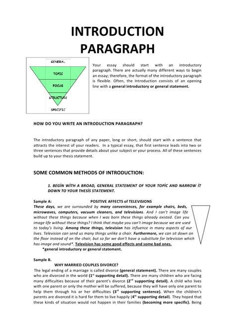 Introductory Paragraph Essay by Essay Intro Devlp Concl