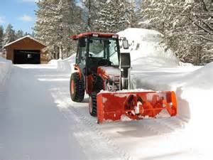 Snow attachments fel plow blade or rear snow blower page 3