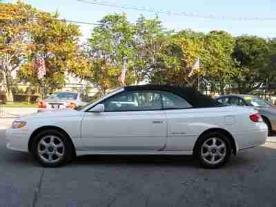 how cars run 2000 toyota solara electronic toll collection buy used 01 solara camry convertible wood trim leather v6 power top florida carfax 00 02 in