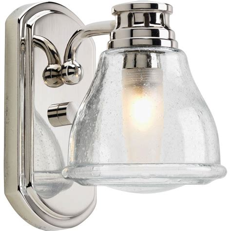 chrome bathroom light progress lighting academy collection 1 light polished