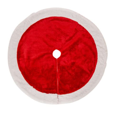 glitzhome 48 in d plush christmas tree skirt 1113004121