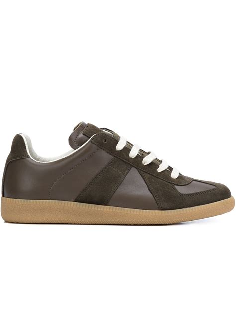 maison margiela sneakers maison margiela replica trainers in brown for lyst