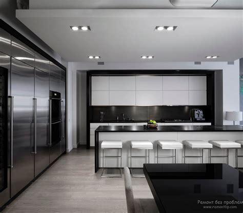интерьер современной кухни в стиле хай тек правила