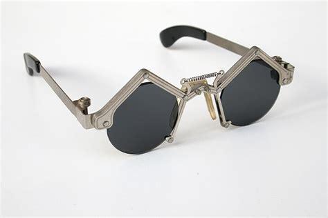 unique glasses unisex round goth steunk stainless steel sunglasses