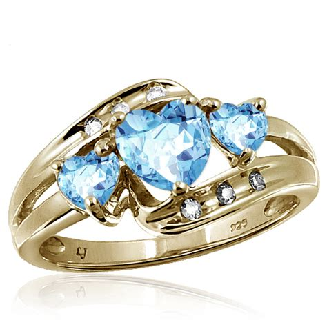 topaz ring with diamonds express your undying