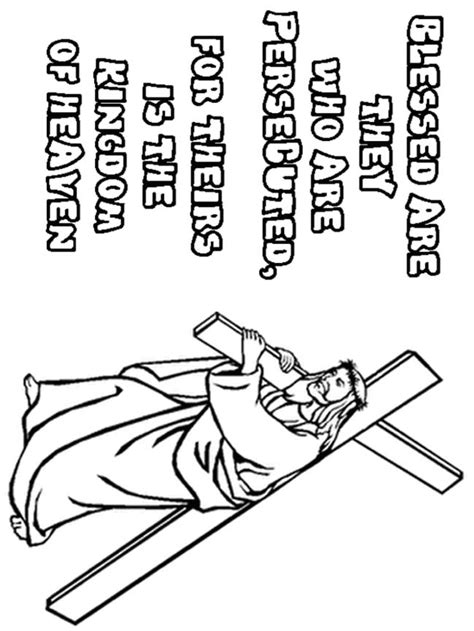 beatitudes coloring page az coloring pages