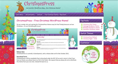wordpress themes free holiday christmaspress free christmas wordpress theme now