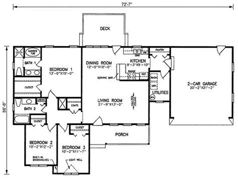 1500 Sq Ft Bungalow Floor Plans by Simple House Plans 1500 Square Foot 1500 Square House