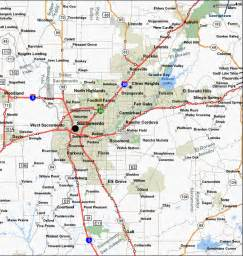 sacramento california map map of sacramento and surrounding communities