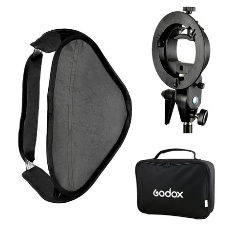 Softbox 60 X 60 Cm For Flash Tipe Ii Gratis Bracket Dan Tas Godox S Type Flash Speedlite Bracket Mount Holder 60 X