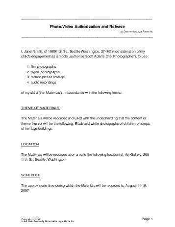 photo release form template canada free photo consent agreement canada