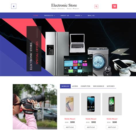 Download Free Html Ecommerce Templates For Online Shopping Websites Free Ecommerce Template