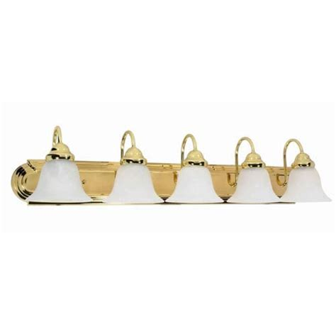brass bathroom lighting fixtures nuvo lighting ballerina polished brass five light bath