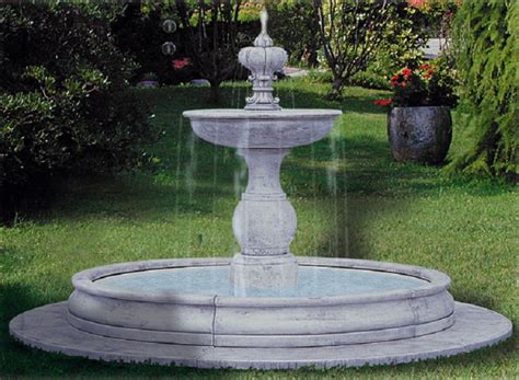 fontana da giardino in cemento eshop fontana da giardino in cemento bianco e graniglia