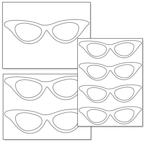 printable cat eye glasses from printabletreats com