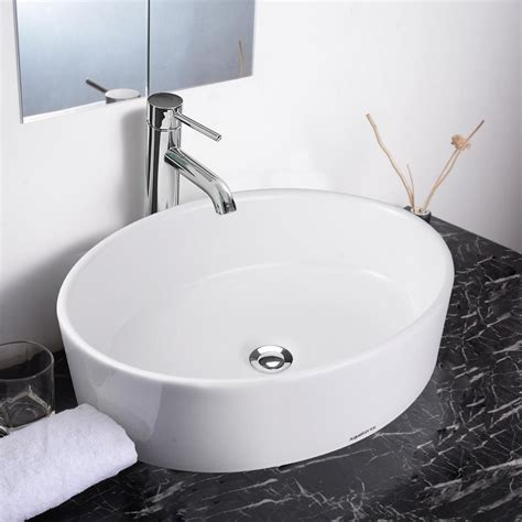 aquaterior bathroom porcelain ceramic vessel sink bowl w