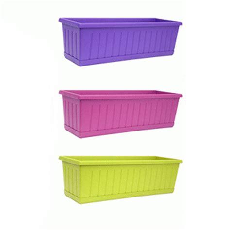 vasi plastica colorati vaso coprivaso balconetta fiori rettangolare colorato in