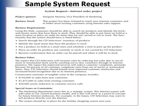 system request form template feasibility analysis chapter 3 ppt