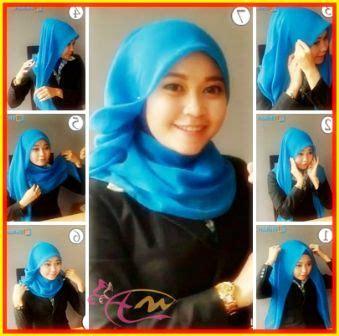 tutorial hijab paris jadi turban tutorial hijab segi empat untuk ke kantor dengan kerudung
