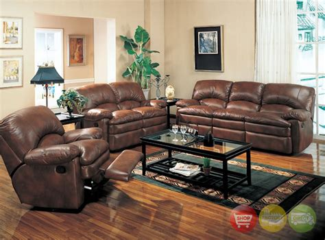 brown leather living room sets walter reclining sofa and love seat brown bonded leather