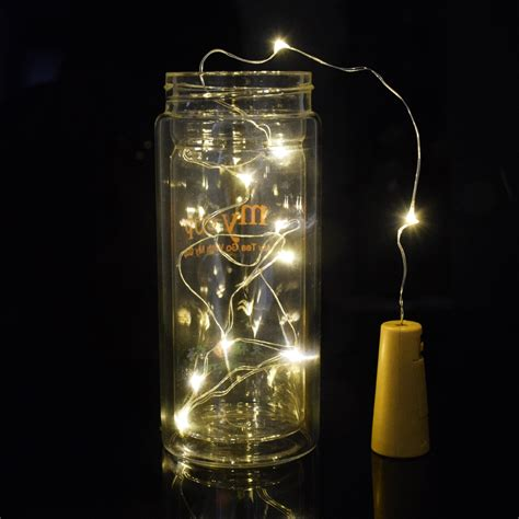 silver wire lights silver wire light led string cork shaped mini bottle