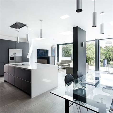 modern open plan kitchen designs modern grey and white kitchen open plan kitchen design