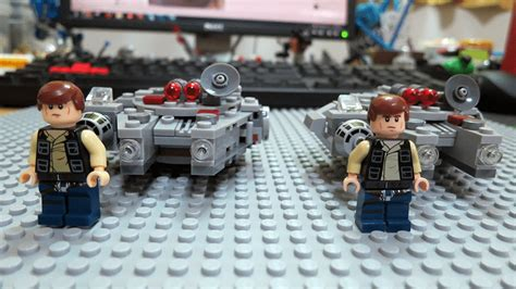 Lego Bootleg Wars The Awakens lego wars bootleg millennium falcon microfighter
