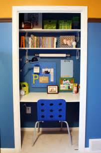 Small Closet Desk Ideas Riches To Rags By Dori Turn A Closet Into Your Very Own