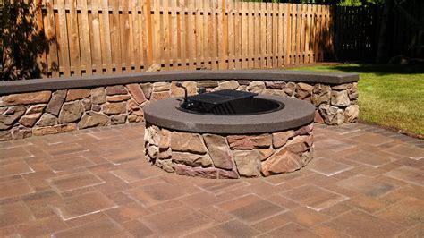 pavers or concrete patio hardscape brick patios
