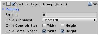 unity vertical layout group height unity manual vertical layout group