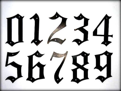 tattoo old english numbers metal house numbers 5 old english style numbers