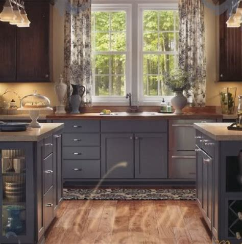 painting wood cabinets gray upper stained lower painted cabinets different colors on