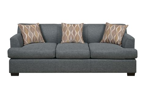 Blue Grey Sofa blue grey faux linen sofa by poundex f7973 huntington
