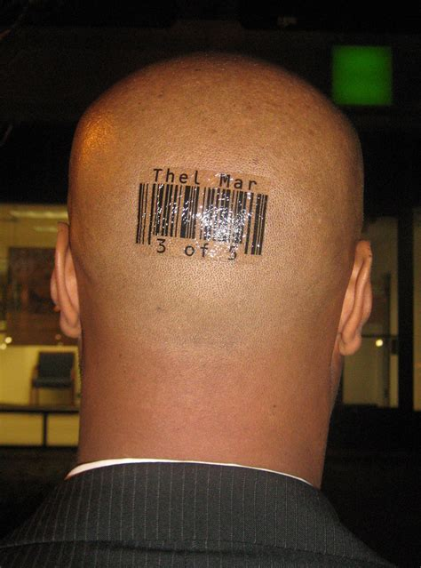 barcode tattoo on head custom barcode tattoos by scott blake