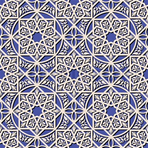 islamic style seamless pattern vector free download vintage arabic and islamic background ethnic style