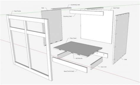 kitchen cabinet joinery ana white wall kitchen cabinet basic carcass plan diy