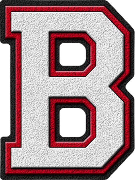 College Football Varsity Letter Presentation Alphabets White Cardinal Varsity Letter B