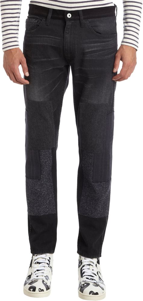 Levi S Patchwork - junya watanabe levis collaboration patchwork slim in