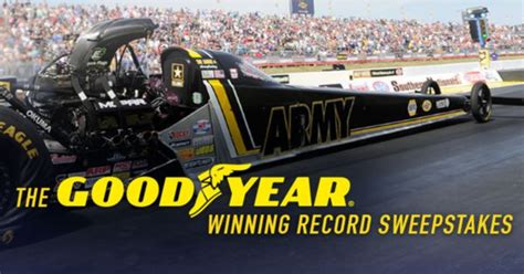 Goodyear Sweepstakes - national hot rod association nhra lockerdome