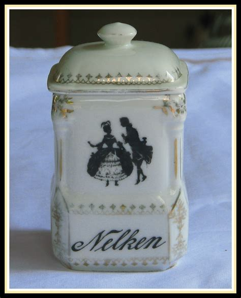 antique kitchen canister sets antique czech porcelain kitchen canister set black white
