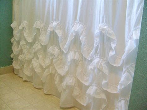 waves of ruffles shower curtain waves of ruffles 10 super simple diy shower curtains