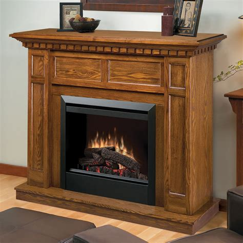 electric fireplace with mantle dimplex caprice electric fireplace mantel package in oak