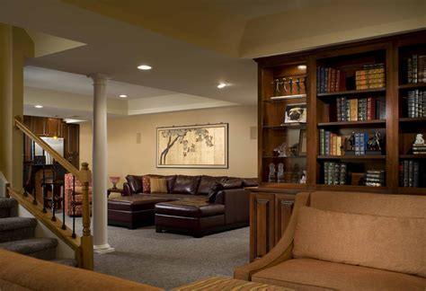 cool basement ideas for lounging area your home
