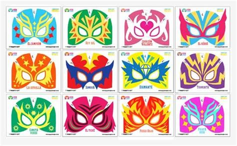 printable luchador masks make your own 12 printable lucha libre mask cuff