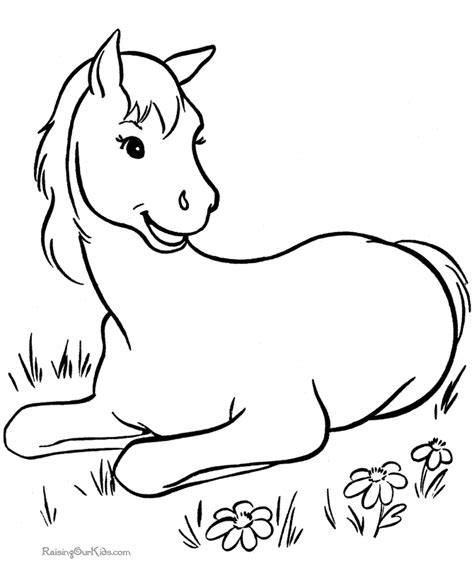 free coloring pages of horse colour by number