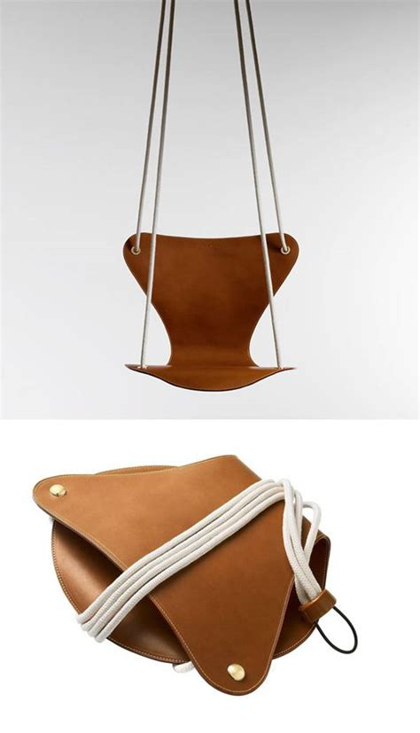 Leather Swing Chair by Dpages A Design Publication For Of All Things