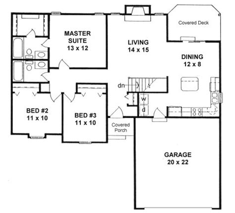 Small Ranch Style Floor Plans by Plan 1189 Ranch Style Small House Plan W Island Kitchen