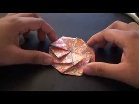 How To Make A Paper Coin Pouch - origami daily 213 tato pleated coin purse fabric