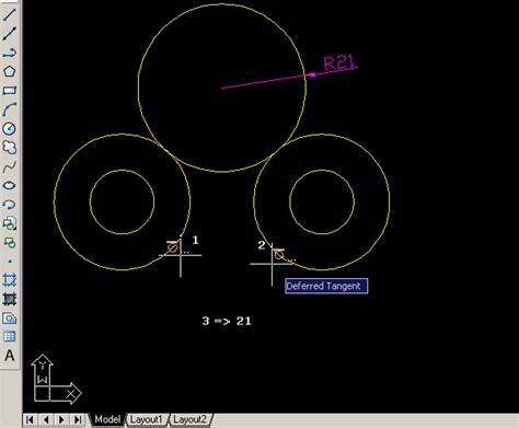 autocad 2007 tutorial za pocetnike autocad primjer 2d crteža tangenta na kružnicu
